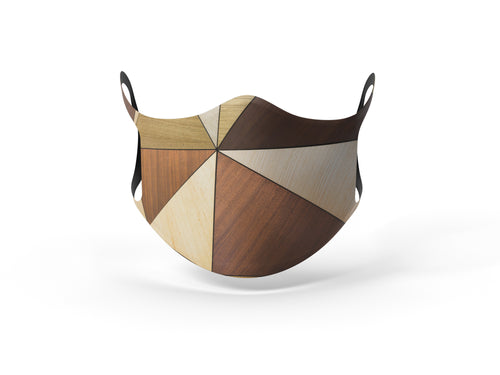 Pixilish Woodwork Face Mask