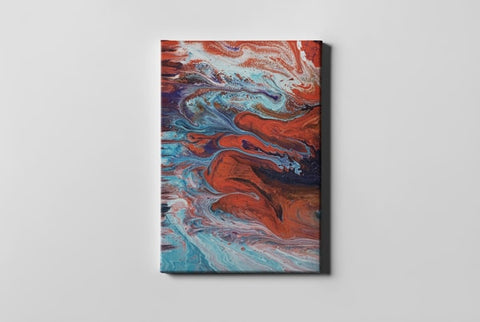 Photo Of Red and Blue Abstract Painting