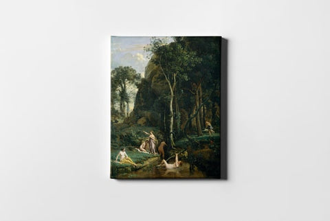 Diana and Actaeon Diana Surprised in Her Bath Jean Baptiste Camille Corot