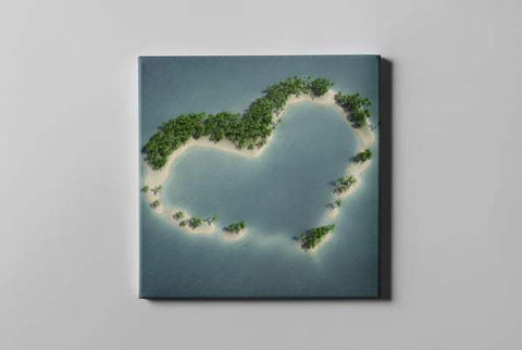 Heart Shape Island Amazing Earth