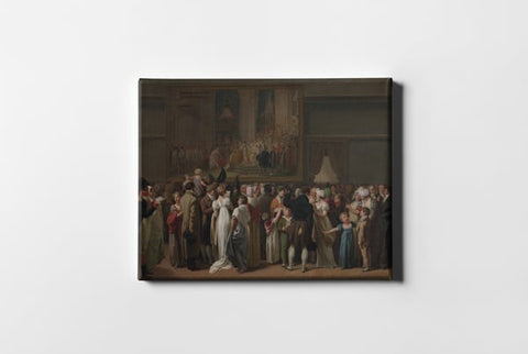 The Public Viewing David S Coronation At The Louvre Louis Leopold Boilly