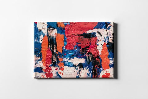 Red Orange and Blue Abstract