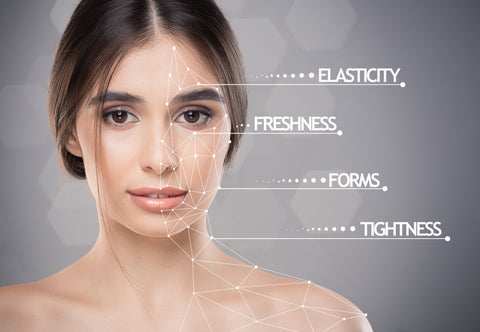 Picture showing effects of Healife CBD oil on woman's skin
