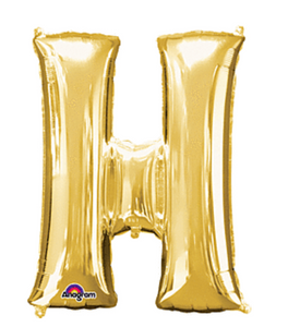 "32"" Anagram Letter H Gold"