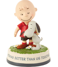 Load image into Gallery viewer, Peanuts® Charlie Brown and Snoopy Together Figurine, 4.75""