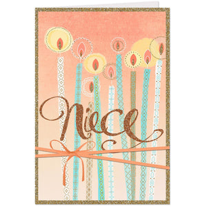 Tall Candles Birthday Card for Niece
