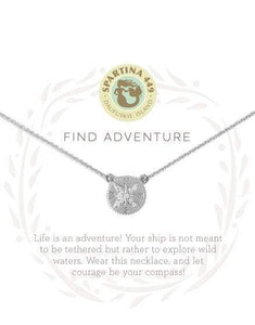 "Spartina - Sea La Vie Find Adventure Silver Necklace (18"" Chain)"