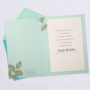 You Bring a Smile Religious Birthday Card for Grandson