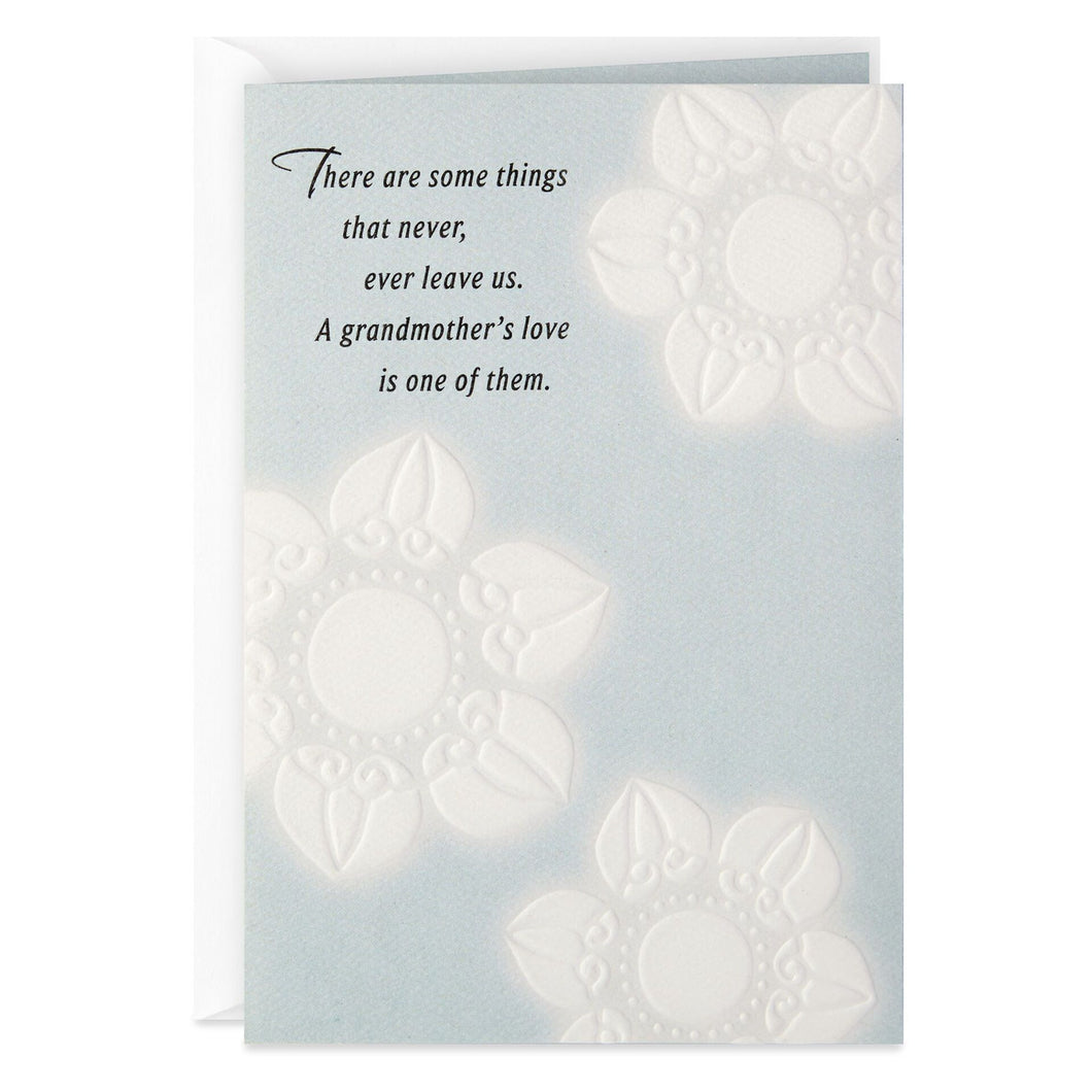 A Grandma's Love Never Leaves Sympathy Card