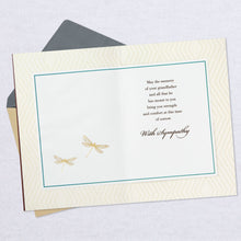 Load image into Gallery viewer, Golden Dragonflies Sympathy Card for Loss of Grandfather