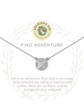 "Load image into Gallery viewer, Spartina - Sea La Vie Find Adventure Silver Necklace (18"" Chain)"