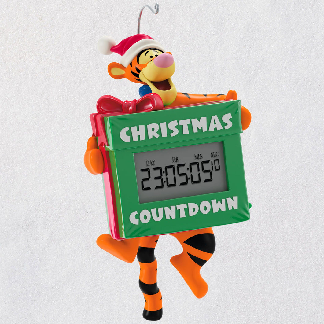 Disney Winnie the Pooh Tigger's Christmas Countdown Ornament With Light