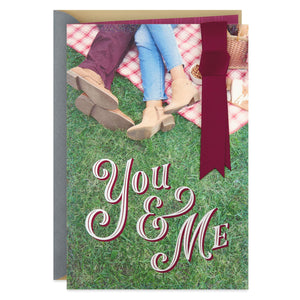 You & Me Anniversary Card for Wife
