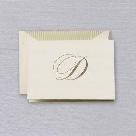 Crane Engraved Initial Note - D