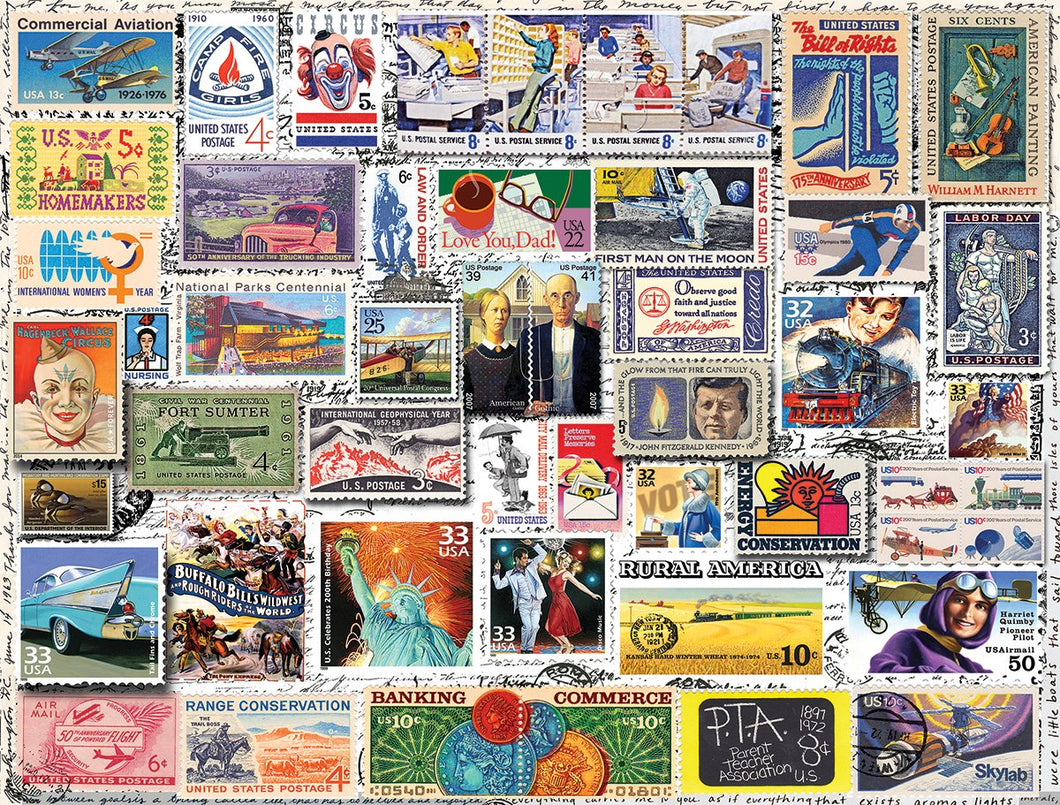Classic Stamps (1238PZ) - 550 Piece Jigsaw Puzzle