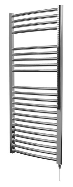Center Cb Electric Curved Towel Warmer 1200 X 500mm Chrome