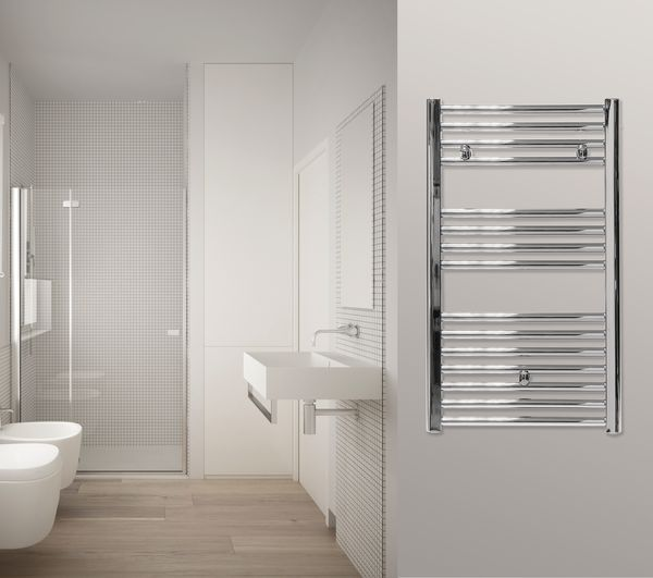 Centerrail Straight Towel Rail 862 X 400mm Chrome