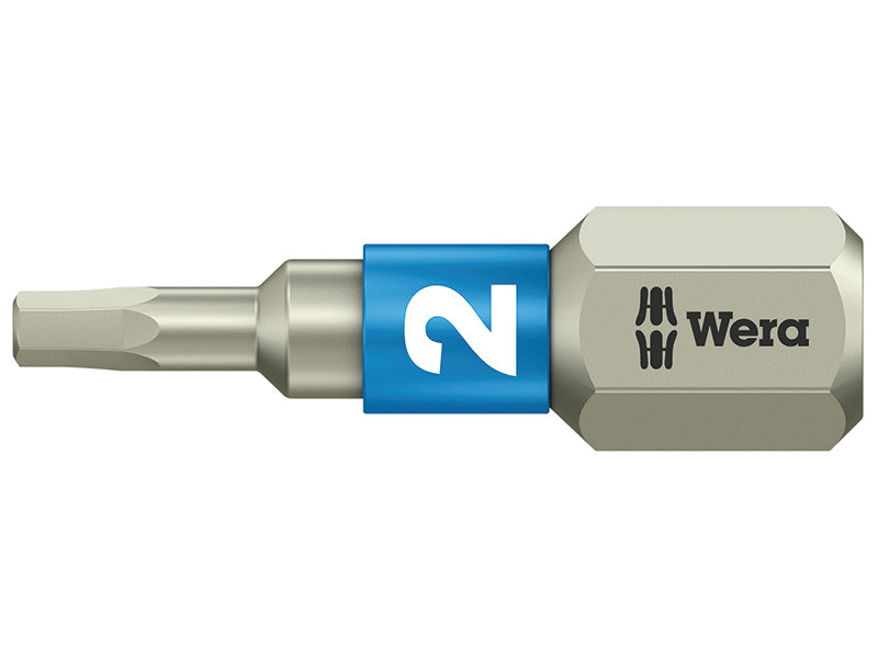 Wera Stainless Steel Hex Plus Bits TS Torsion