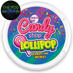 candy shop snus lollipop berries and needles the pod block