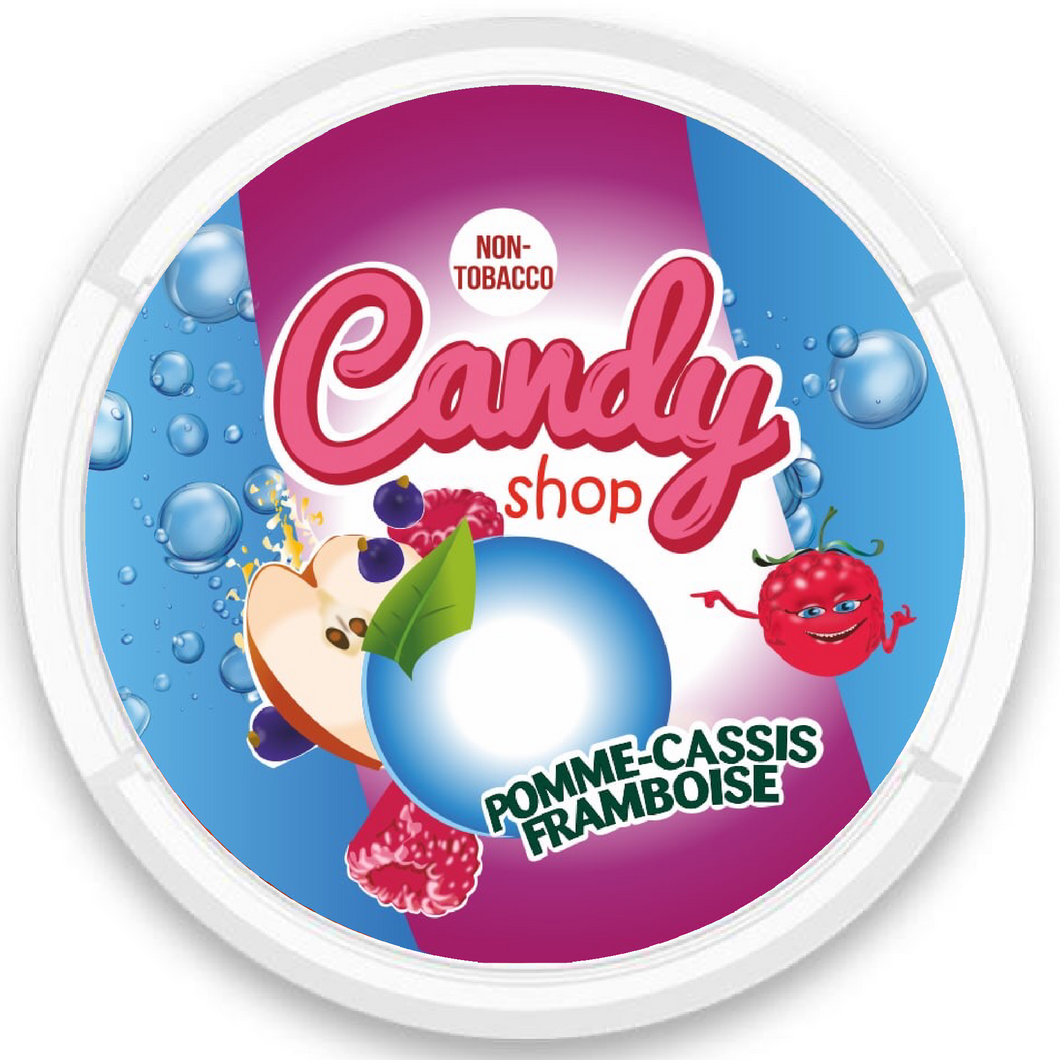 CANDY SHOP APPLE BLACKCURRANT SNUS NICOPODS THE POD BLOCK