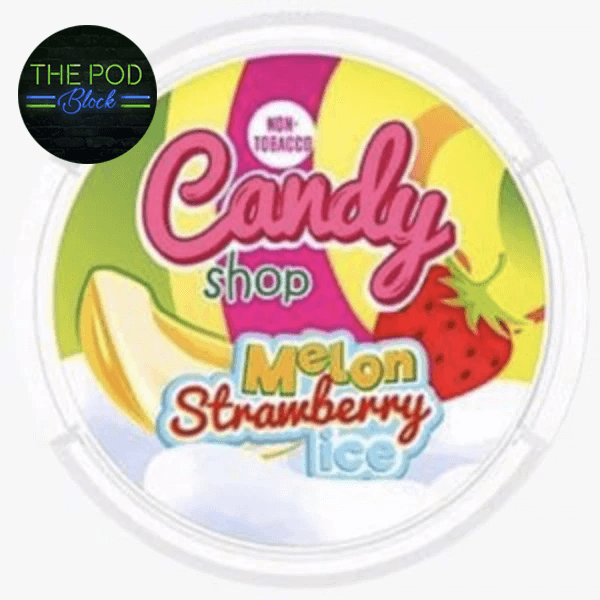 candy shop strawberry watermelon ice snus nicopods 77mg the pod block