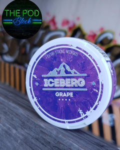 iceberg grape snus nicopods 100mg the pod block
