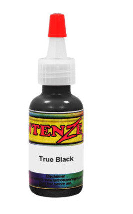 TRUE BLACK Intenze Tattoo Ink 1/2oz