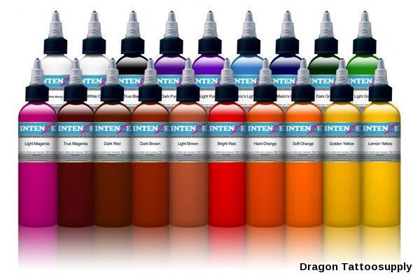 INK: 19 Color INTENZ Tattoo (1oz), Great Starter and Replacement Set