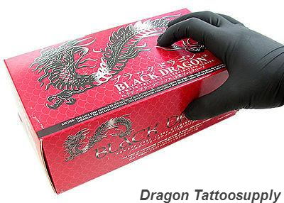 Gloves: Dragon Black Latex / 100 per Box