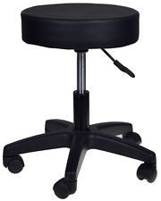 Furniture / Hydraulic Stool with Wheels / Black
