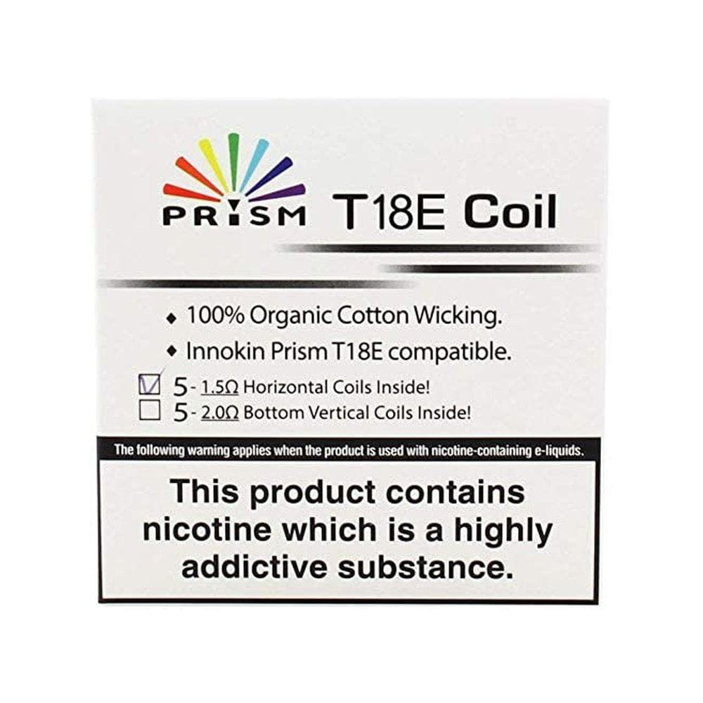 Innokin T18E Prism Coils 1.5 Ohm Coils - Pack of 5 onepoundeliquid