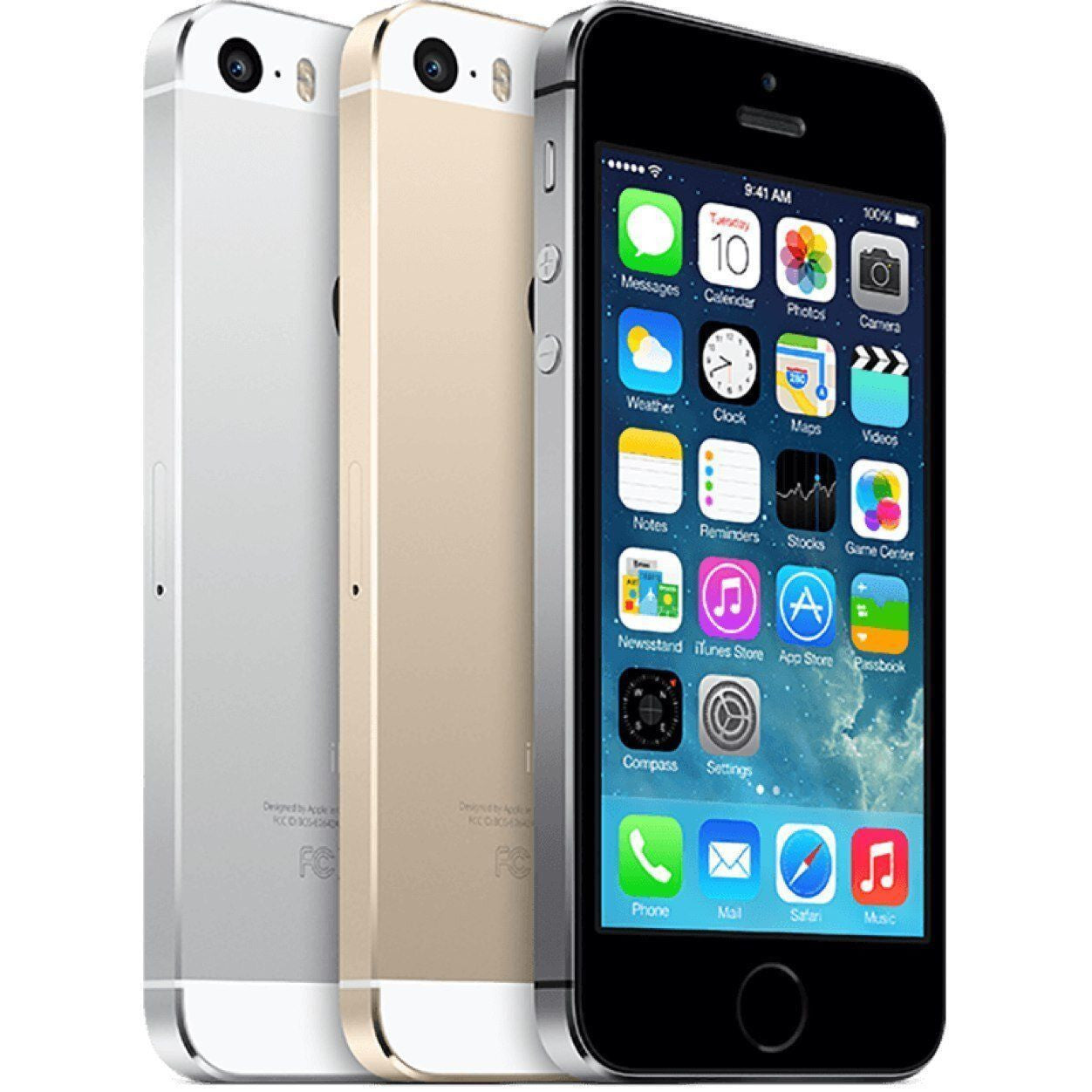 Apple iPhone 5S Factory Unlocked Cellphone - 16GB, 32GB - Gray, Silver, Gold - Grade A