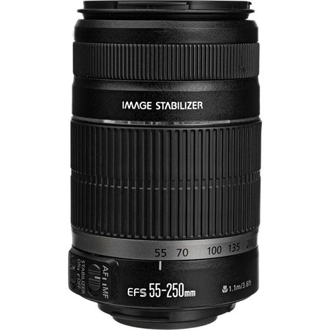 Canon EF-S 55-250mm f/4-5.6 IS For Canon DSLR Camera (White Box)
