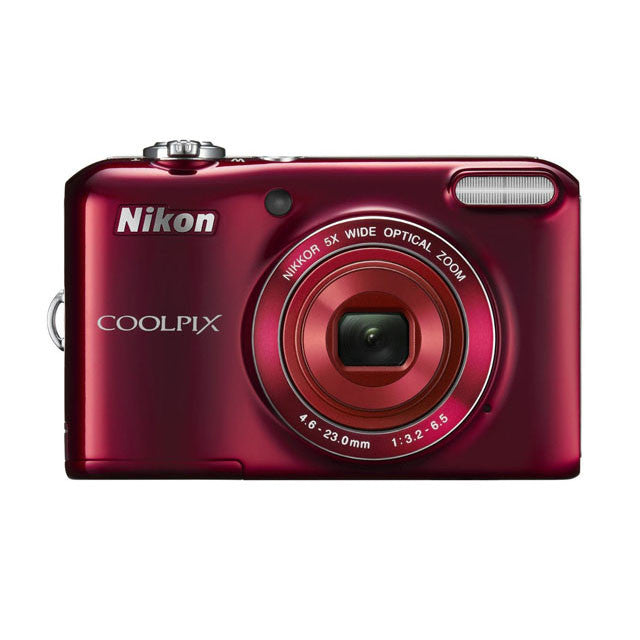 Nikon COOLPIX L28 20.1 MP Digital Camera with 5x Zoom Lens (Red)