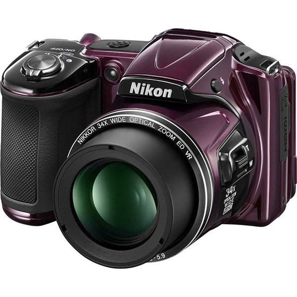 Nikon Coolpix L830 16.0MP 34x optical Zoom Digital Camera - Plum