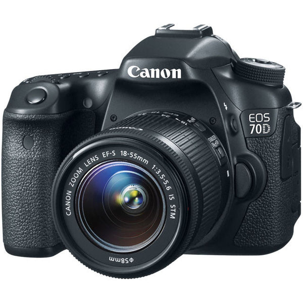 Canon - EOS 70D DSLR Camera with 18-55mm IS STM Lens - Black