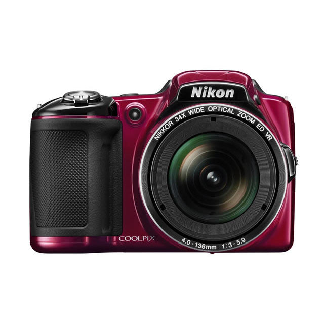 Nikon Coolpix L830 16.0 MP CMOS 34x optical Zoom Digital Camera - Red