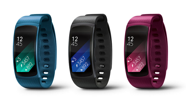 Samsung Gear Fit 2 Fitness Smart Watch Sports Band Activity Tracker - Black, Blue, Pink