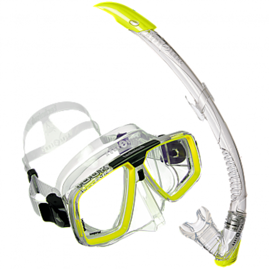 Aqualung LOOK Mask Set Yellow