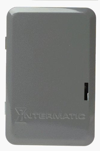 Intermatic T104 Electromechanical Timer, 208-277 V, 40 A, 1-23 Hr, 1-12 Cycles Per Day, Gray 240/277v