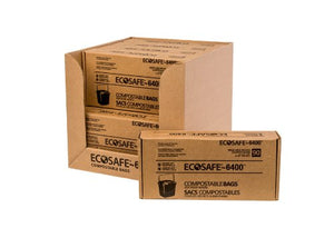 EcoSafe-6400 CP1617-6 Compostable Bag, Certified Compostable, 2.5-Gallon, Green (Pack of 90) 1