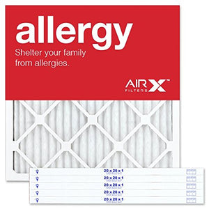 AIRx ALLERGY 20x20x1 MERV 11 Pleated Air Filter - Made in the USA - Box of 6 20 x 20 x 1