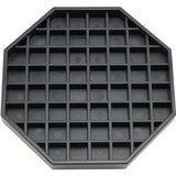 "Coffee Countertop Octagon Drip Tray - 6"" - Black"