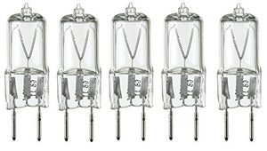 LSE Lighting 5 Pack - 20 Watt Xenon G8 20w 20 watt 120V T4 Light Bulbs JCD 120 Volt