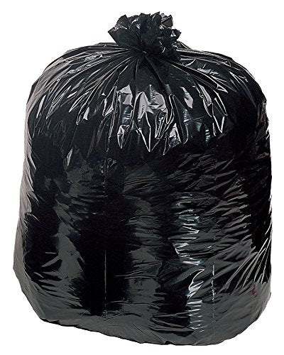 Contractor Trash Bags 55 Gallon Drum Liner Flat Cut Top Superior Strength Black 3.0 Mil 15 Count - Bilt-Tuf
