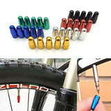 ILJILU 5pcs Bicycle Presta Wheel Rims Tyre Stem Air Valve Caps Dust Cover - Black