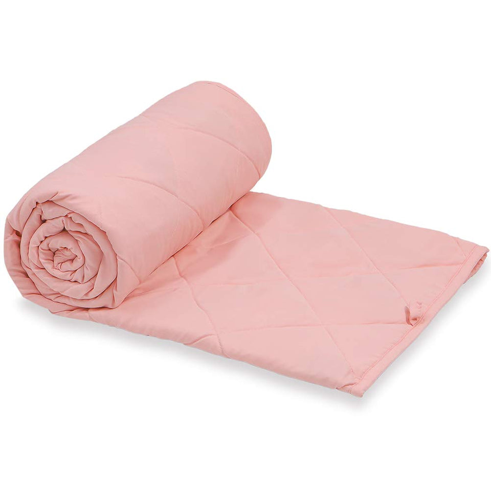 Pink, 7 nexHOME 5lb Weighted Blanket for Kids Cool and Warm Cute Pink 7lbs for Children Girls and Boys Gray Weighted Blanket Cover Use on Twin Bed