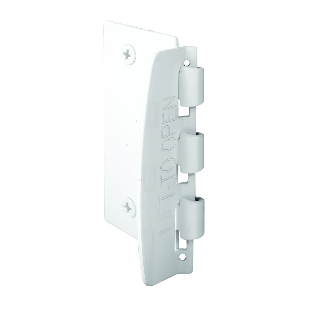 Prime-Line U 9888 Flip Action Door Lock – Reversible White Privacy Lock with Anti-Lock Out Screw for Child Safe Mode, 2-3/4""