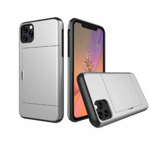 For iPhone 11 Pro Max XS X XR Case Slide Armor Wallet Card Slots Holder Cover For IPhone 7 8 6 6s Plus 5 5s TPU Shockproof Shell