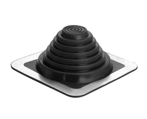 "Oatey 14052 .25"" 4"" Master Flash 8"" x 8"" Base, for use with profiled Materials and can be Installed on Every Type of Roofing Surface, 0.25"" - 5.75"", 1/4-Inch-4-Inch 0.25"" - 5.75"""